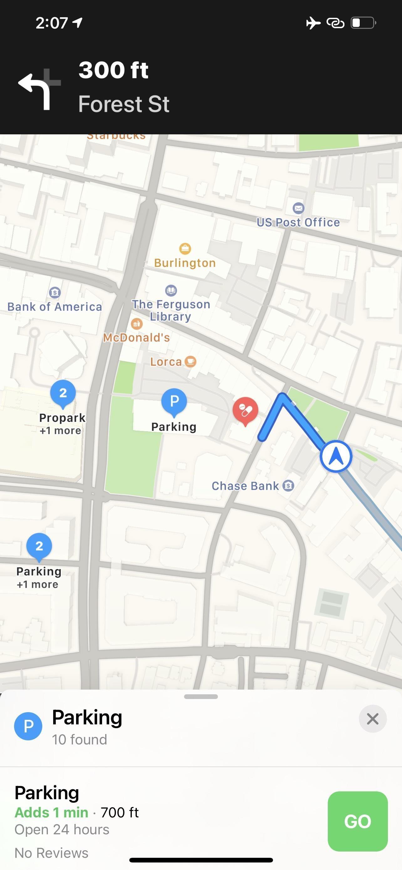 Trouver un parking est devenu plus facile avec Apple Maps sur votre iPhone
