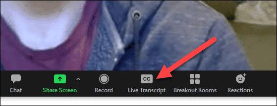 bouton de transcription en direct