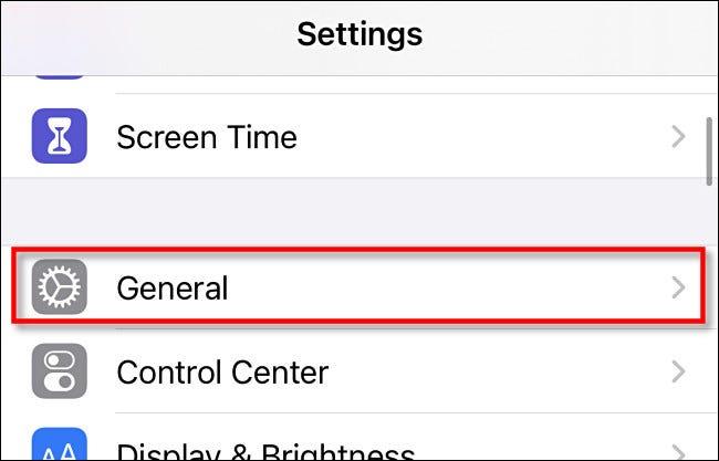 """Dans Paramètres sur iPhone ou iPad, appuyez sur """"Général."""""""