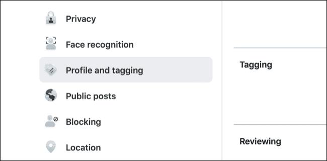 Accéder au profil Facebook et aux paramètres de marquage