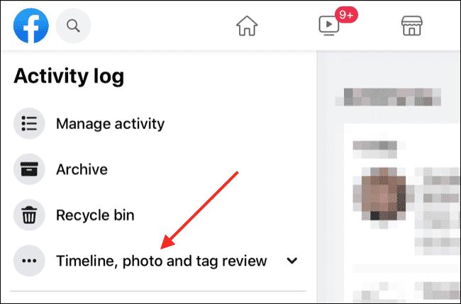 Journal d'activité Facebook via le navigateur Web