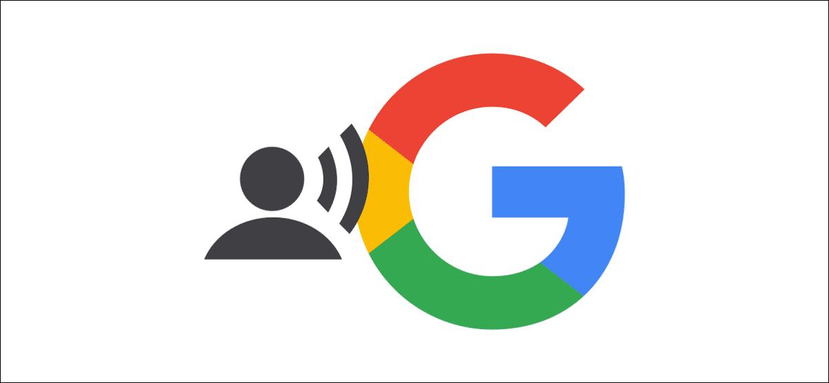 Logo Google avec icône parlante